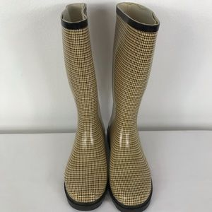 Nature Breeze Rain Boots herringbone print